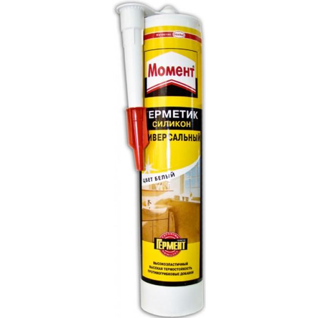 Герметик Момент силиконовый универсальный бел