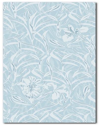 Панель ПВХ 0114/2 Орхидея голубая