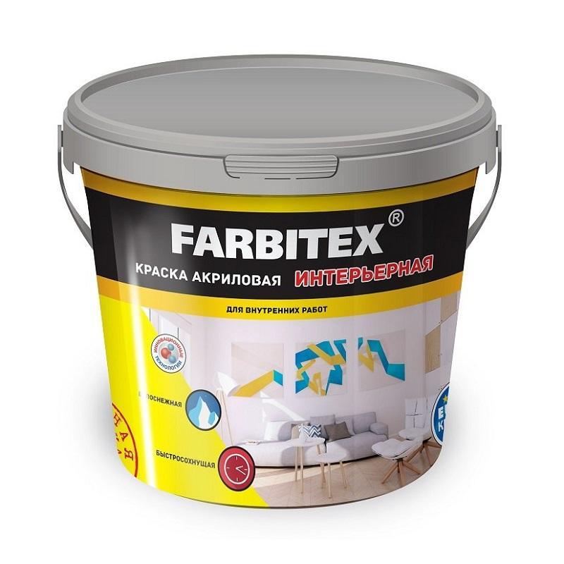Краска акриловая интерьерная FARBITEX