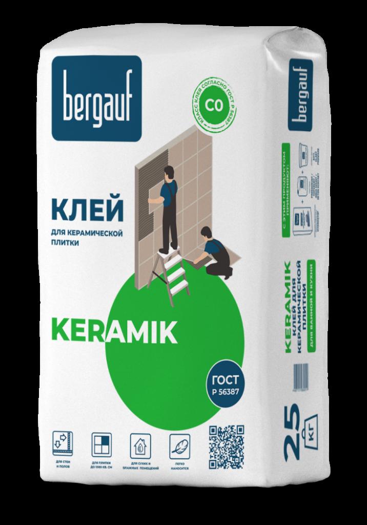 Клей д/плитки Bergauf Keramik 25кг